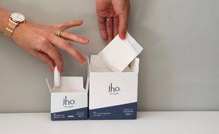 Jho est une nouvelle marque de serviettes et tampons bio
