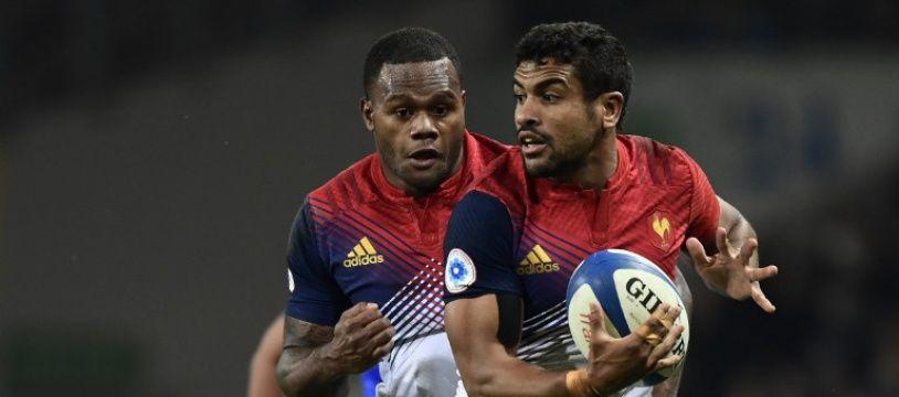Wesley Fofana et Virimi Vakatawa lors de France-Samoa (52-8), le 12 novembre 2016.