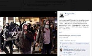 Capture d'écran de la page Anonymous Rio, le 28 juillet 2014.