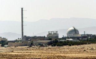 Vue partielle de la centrale nucléaire de Dimona en Israël, le 8 septembre 2002