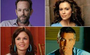 Luke Perry, Alyssa Milano, Rachel Bilson et George Clooney ont séduit de nombreux téléspectateurs.