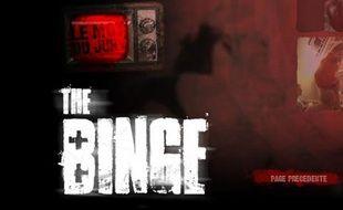Capture d'écran du site dédié au concours de vidéos contre le binge drinking.