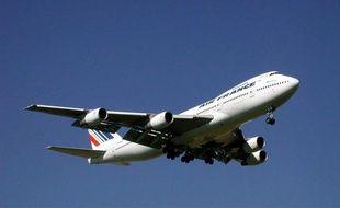 Illustration d'un Boeing 747 de la compagnie Air France