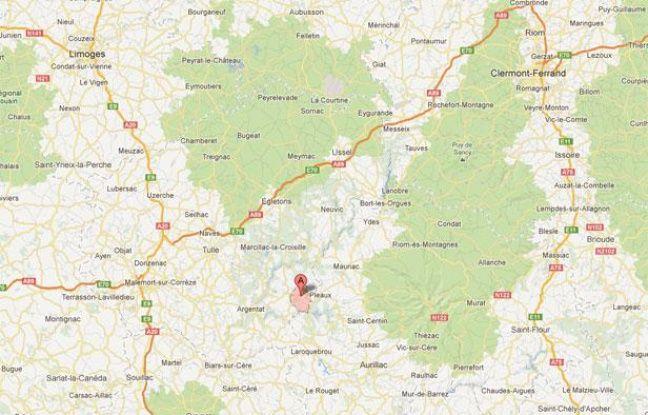 Google Maps de Saint-Julien-aux-Bois (Corrèze).