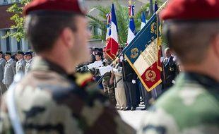 Ceremonies militaires du 14 juillet 2011 à Montauban avec le 17eme Regiment du Genie Parachutiste de la Caserne Doumerc.