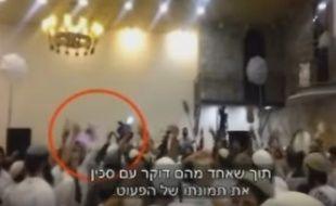 Extrait d'une vidéo montrant des extrémistes juifs célébrant la mort d'un bébé palestinien.