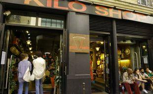 Entrée du magasin Kilo-Shop, rue de la Verrerie, 4e arrondissement de Paris