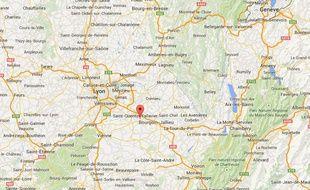 Localisation de Villefontaine en Isère.