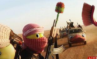 Sur le site 4Chan, les Internautes remplacent les visages des combattants de Daesh par des têtes de canards.