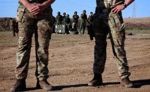 Des soldats peshmergas lors d'un entraînement à Erbil (Irak) le 5 novembre 2014