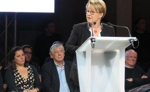 La maire de Rennes Nathalie Appéré a réuni ses partisans mardi soir salle de l'Etage.