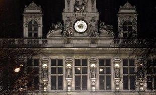La façade de l'Hôtel de Ville de Paris, le 6 février 2014