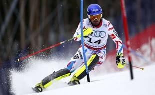 Jean-Baptiste Grange au slalom des Mondiaux de Beaver Creek le 15 février 2015.