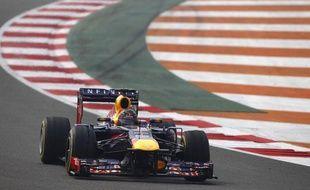 Sebastian Vettel lors des qualifications du Grand Prix d'Inde le 26 octobre 2013.