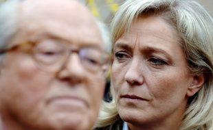 Jean-Marie Le Pen et sa fille, Marine.