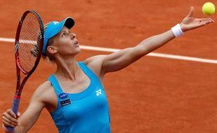 La Russe Elena Dementieva en quart de finale à Roland Garros contre Nadia Petrova, le 1er juin 2010