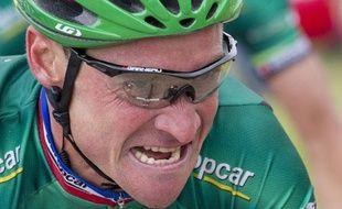 Thomas Voeckler, le 3 juillet 2012, lors de la 3e étape du Tour de France.