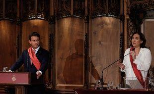 La maire de Barcelone Ada Colau a été réélue grâce à l'appui de Manuel Valls samedi 15 juin 2019.