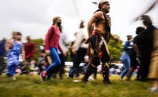 Une danse amérindienne lors des célébrations du «Indigenous Peoples' Day», le 11 octobre 2021 à Philadlephie.