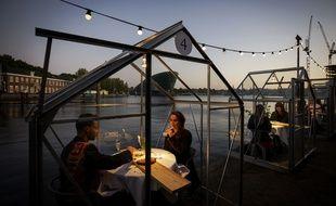 Restaurant en quarantaine à Amsterdam.