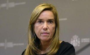 SLa ministre espagnole de la santé, Ana Mato, le 6 octobre 2014 lors d'une conférence de presse à Madrid