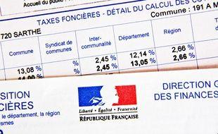 Illustration d'une taxe foncière.