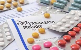 Feuille de l'assurance maladie en France.