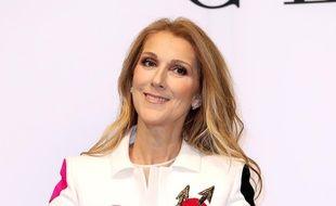 La chanteuse Céline Dion au lancement de sa collection d'accessoires avec Bugatti