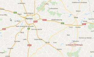 Plan de situation de La Guerche-de-Bretagne.