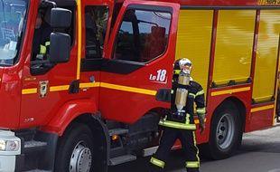 Un pompier. Illustration.