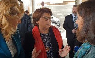 Martine Aubry et les ministres Nicole Belloubet (à gauche) et Agnès Buzyn.
