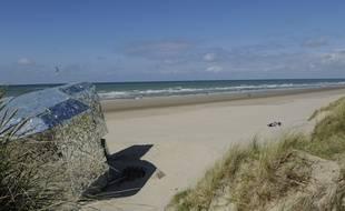 La plage de Dunkerque, dans les Hauts de France.