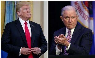 Le président américain Donald Trump et le ministre de la Justice Jeff Sessions-Photomontage