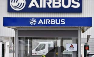 Photo datant du 20 mars 2017 montrant l'entrée d'Airbus à Bouguenais, en France.
