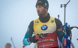 Martin Fourcade, champion de biathlon, le 5 décembre 2018 à Pokljuka en Slovénie