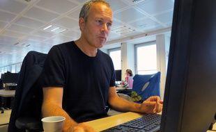 Le dessinateur ZEP en chat à la rédaction de 20 Minutes, le 27 août 2015.