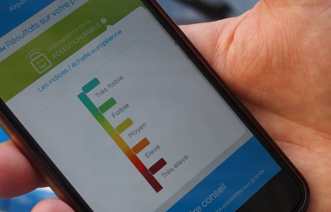 Paris, le 22 mai 2017. L'application Itiner'Air permet de connaître le taux de pollution de différents quartiers en Ile-de-France.