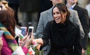 Meghan Markle en visite dans la ville de Cardiff (Royaume-Uni) le 18 janvier 2018.