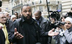 L'humoriste polémique Dieudonné à Paris le 9 janvier 2014.
