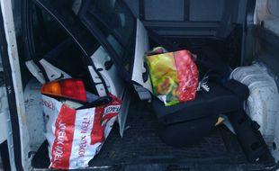 Les pièces automobiles volées ont été rendues à leur propriétaire.