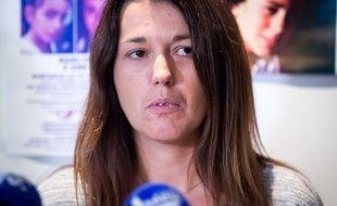 La mère de Maëlys lors d'une conférence de presse à Lyon, le 28 Septembre.