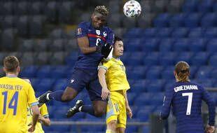 Paul Pogba lors de Kazakhstan-France, le 28 mars 2021.