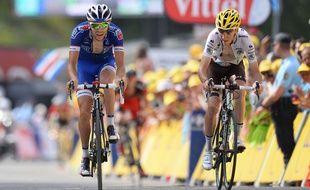 Pinot (à gauche) et Bardet (à droite) avaient brillé sur le Tour 2014.