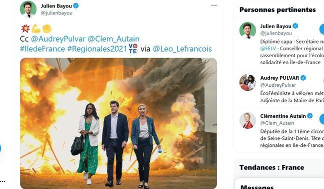 Photo montage de @Leo_Lefrancois, repris par les candidats.