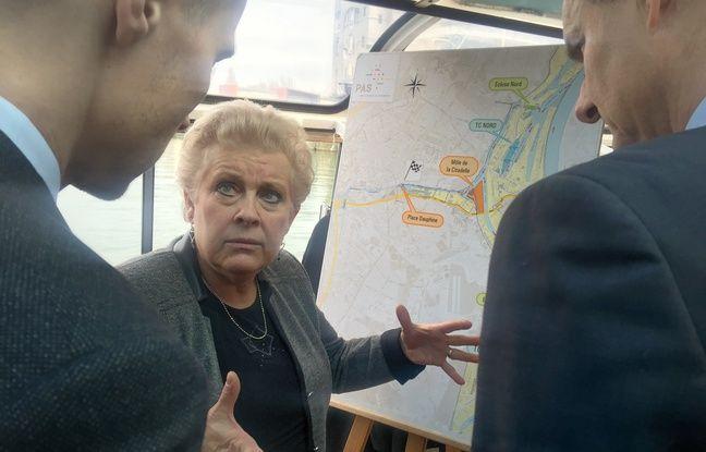 Catherine Trautmann, présidente du port autonome de Strasbourg. Le 11 janvier 2018.