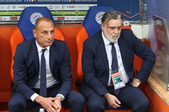 """Après plusieurs semaines de discussion avec son président Laurent Nicollin, Michel Der Zakarian (à g.) a annoncé la fin de son aventure montpelliéraine, """"d'un commun accord""""."""