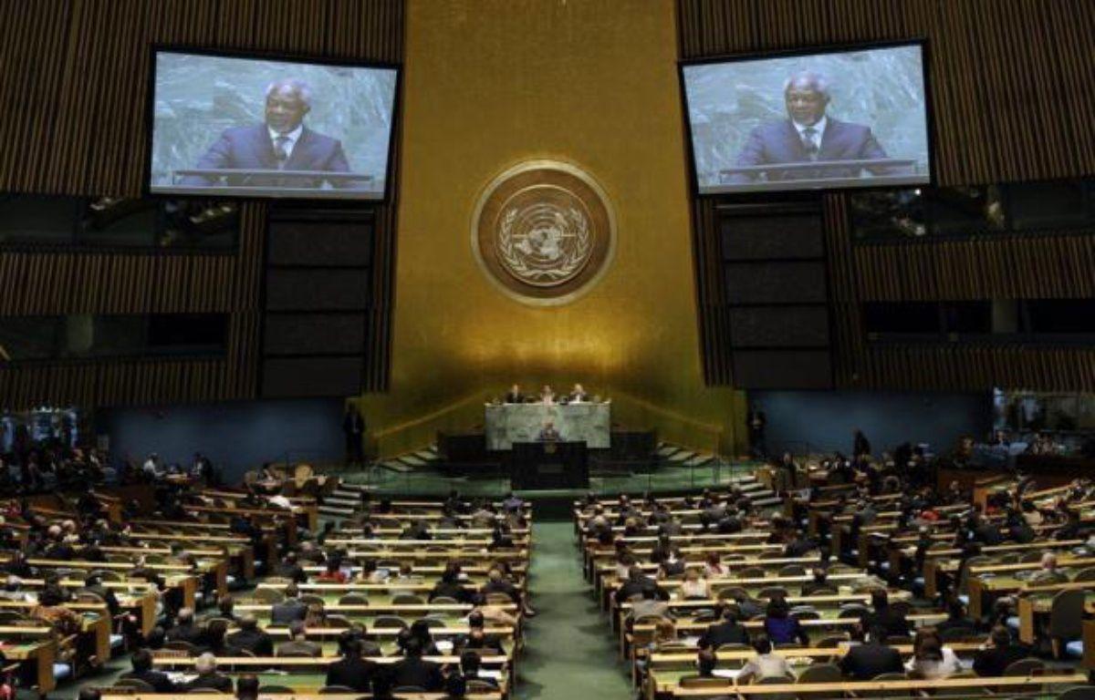 Les négociations à l'ONU pour mettre au point le premier traité international sur le commerce des armes classiques étaient à mi-chemin dimanche et piétinaient, faisant craindre un échec à la date-butoir du 27 juillet. – Timothy A. Clary afp.com