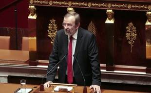 Jean-Jacques Candelier, le député du Nord du PCF lors d'un débat à l'Assemblée nationale le 25 novembre 2015.