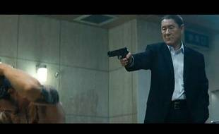 Capture d'écran d'une scène du film «Outrage» de TaKeshi Kitano.