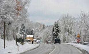 Chute de neige abondante en Isere